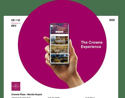 Crowne Plaza Hotel - Airport Loyalty App