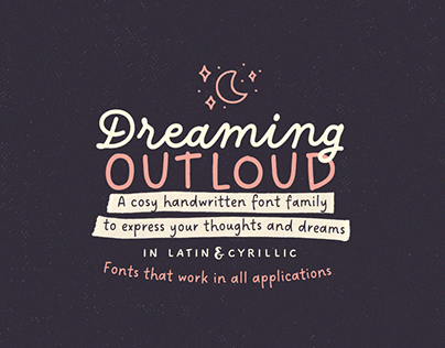 Dreaming Outloud Font Collection