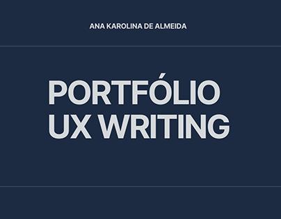 Portfólio UX Writing