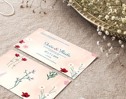 Wedding invitation design (client: I+V)