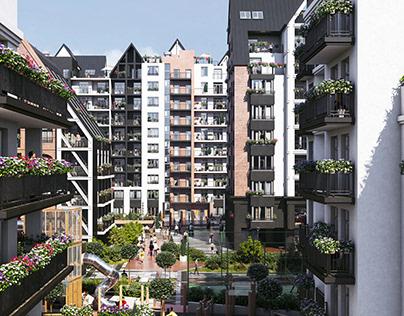 Residential complex inKaliningrad