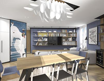Designer apartment 100 m2