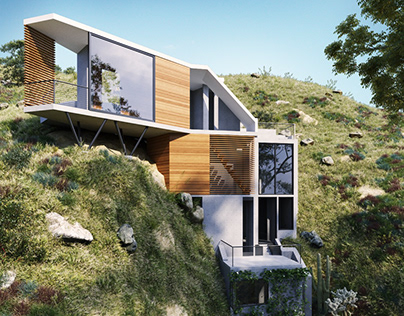 Custom Home in the Hollywood Hills | Archviz Render