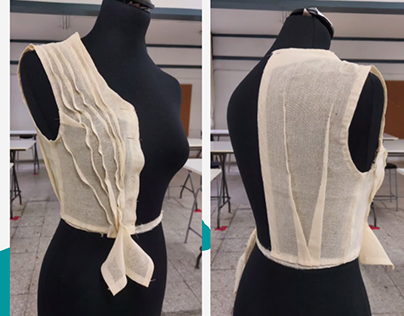 Moulage and Pattern Making | Waterfall drapping