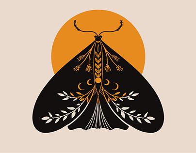 Folk art Moths collection