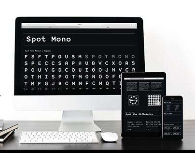 Spot Mono Type-specimen
