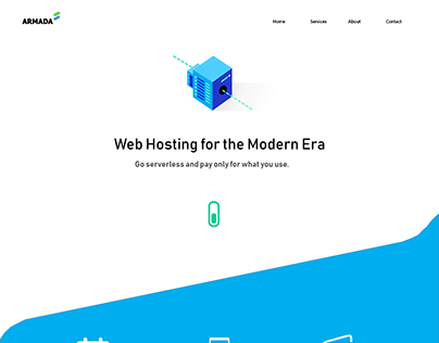 Conceptual Landing page for a web hosting Company.