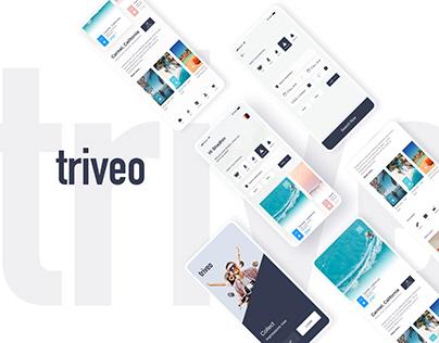 Triveo travel app ui