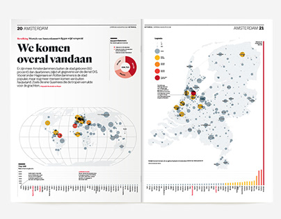Infographic about the birthplace of the Amsterdammer