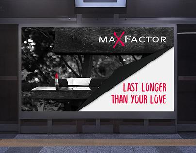 Billboards for maXfactor