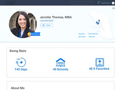Teacher Profile Page