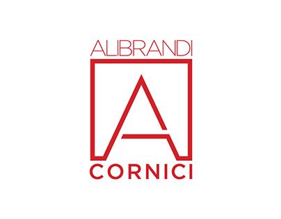 Alibrandi Cornici. Brand name & logotype.