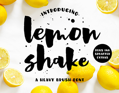 Lemon Shake, a heavy brush font