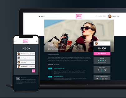 Responsive website UI and UX design for MU