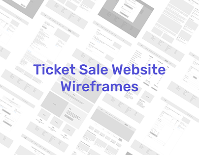 Event Search and Ticket Sale Wireframes