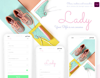 LADY - FREE ELEGANT APP DESIGN TEMPLATE