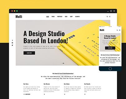 Molli - Creative Portfolio & Agency Theme