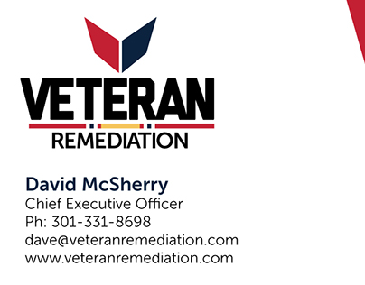Veteran Remediation Business Card Design