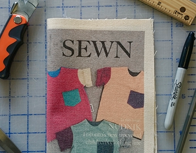 Fabric-Printed Zine for Peace and Cotton Inc
