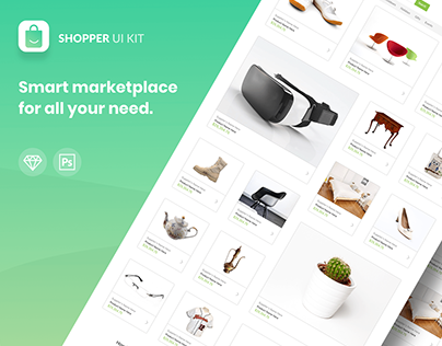 Shopper ui kit - Freebie