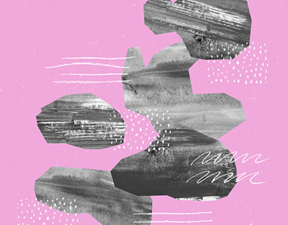 PINK ABSTRACT COLLAGES