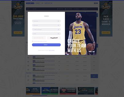 Fantasy Sports UI/UX Responsive Design