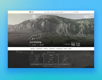 UI/UX design of Regional Tourism Project