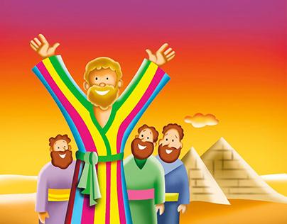 Joseph & his multicolored coat!!
