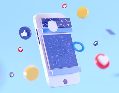 3D Social UI