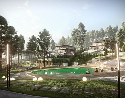 Cottage village in Yukki,Master plan