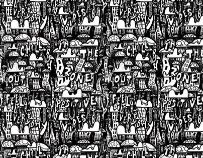 Mushroom City Pattern Design