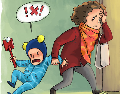 Comic-strip for FB-account BabySitter