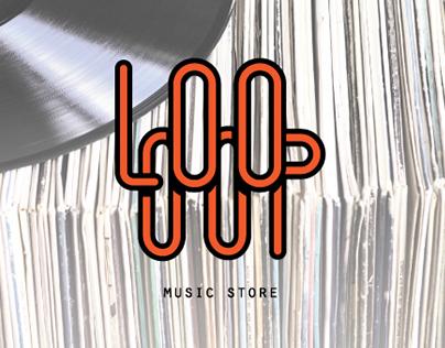 Loooop music store - logo and corporate image design