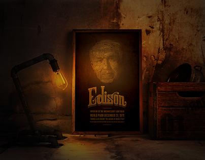 Thomas Edison - Poster