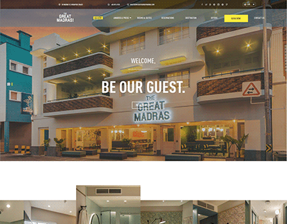 The Great Madras Hotel Website