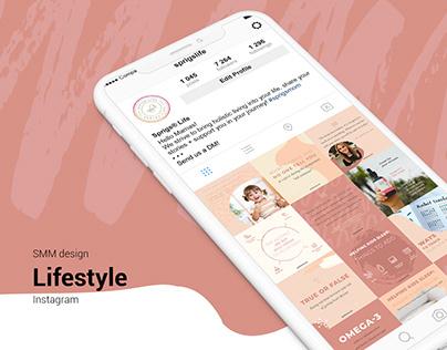 Instagram design. Lifestyle posts, quotes, stories