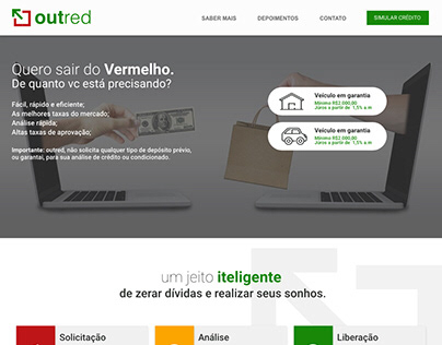 OUTRED - Landing Page