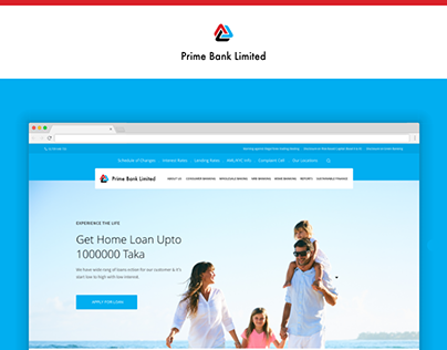 Landing Page Concept for Prime Bank Limited