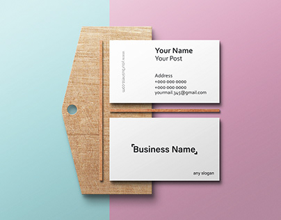 Easy and Simple Business Card ( black & White )