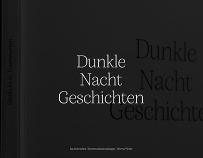 Dunkle Nacht Geschichten | Bachelorarbeit | Editorial