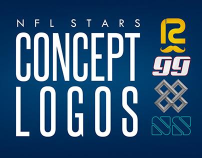 Concept Logos of NFL Stars