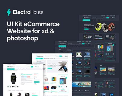 ElectroHouse Website UI Kit