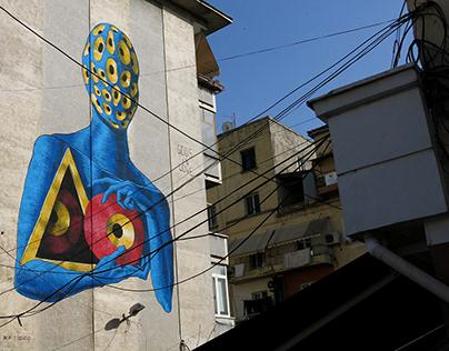 Gods in Love - Wall in Tirana - Albania