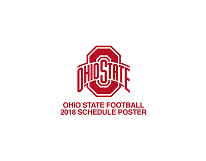 Ohio State Football 2018 Schedule Poster