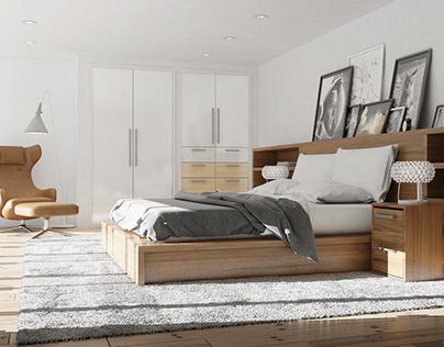Loft interior created for Grandas apartment in Vilnius.