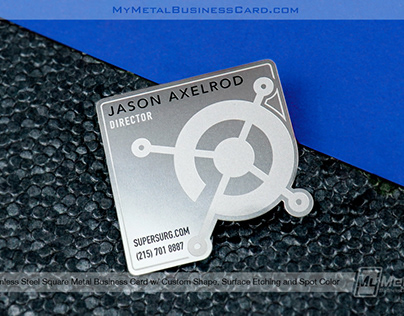 Introducing: Square Metal Business Cards!