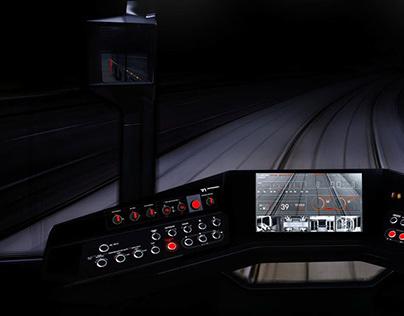 R1 tram driver cabin interior design