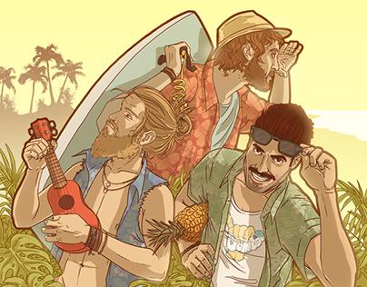 """""""BOMBAI""""Album cover illustration."""