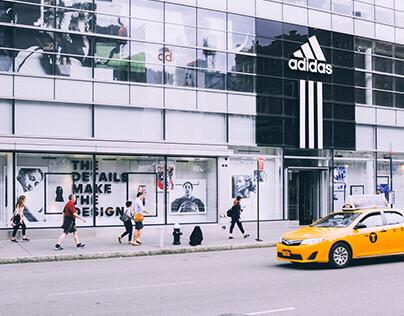 Adidas Women —Retail window display design, 2016
