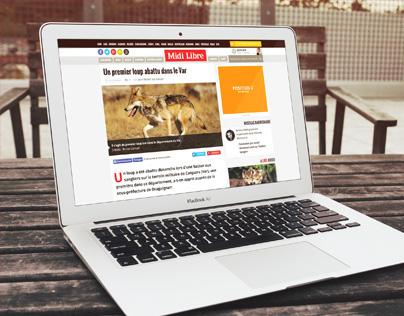 Midi Libre Responsive Website
